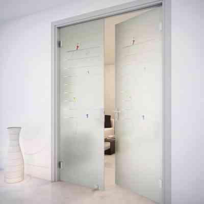 Купить стеклянные распашные двери, Стеклянные распашные двери под заказ, Стеклянные распашные двери в Самаре